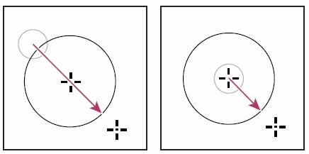 Рисование от угла и рисование от центра