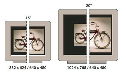 Отображение изображения размером 620 x 400 пикселов