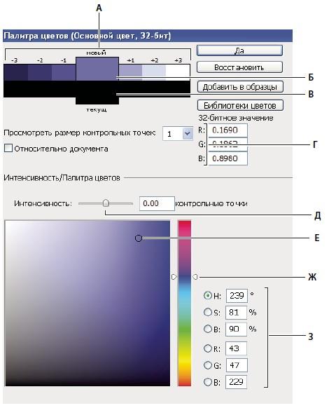 Палитра цветов HDR