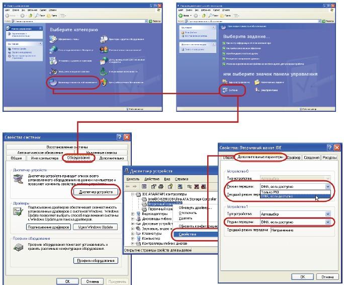 Windows, Включение режима DMA