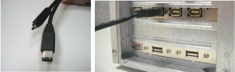 Подключение 1ЕЕЕ-1394 кабеля с 4- и 6-штырьковыми разъемами к настольному компьютеру