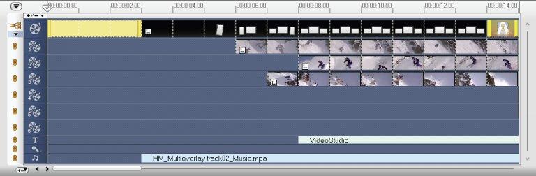 Клип цвета вставляется перед оригинальным клипом
