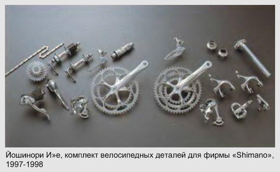 Йошинори Иве, комплект велосипедных деталей для фирмы «Shimano», 1997-1998