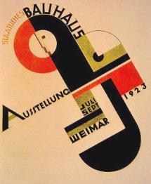 плакат для выставки Баухауса в Веймаре