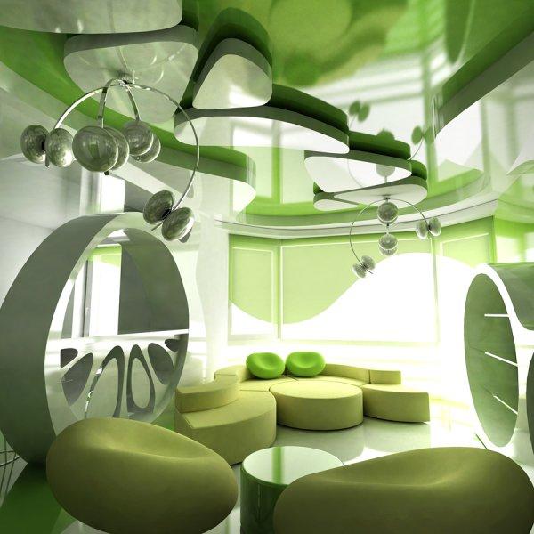 интерьер в стиле биоморфизм
