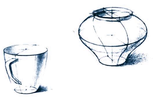 Объемно-пронстранственное и конструктивное построение форм предметов
